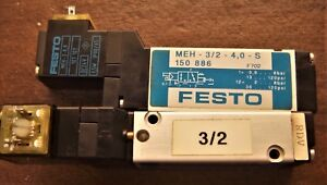 Festo Electric Pneumatic Solenoid Valve Meh 3 2g 4 0 s With On off Indicators