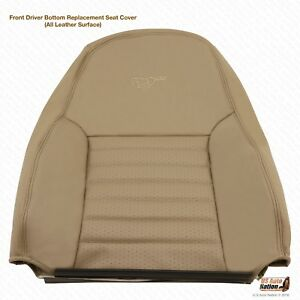 1999 Ford Mustang Cobra Svt Driver Lean Back Seat Cover Perforated Leather Tan