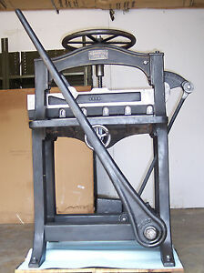 Vintage Chandler Price Manual Paper Cutter 26 Inch