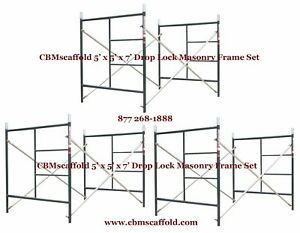 3 Set Of 5 X 5 X 7 Masonry Bj Drop Lock 1 69 Scaffold Frame Set Cbmscaffold