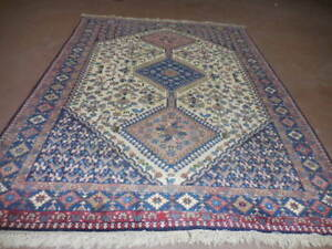 Ca1950s Vg Dy Antique Persian Ghashghaee Yalameh Serapi 4 10x6 9 Estate Sale Rug