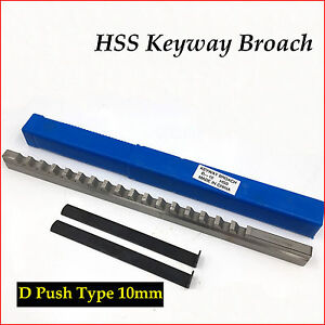 10mm D Keyway Broach Metric Size Hss Shim Involute Spline Cutter Machine