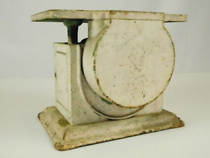 Vintage Heavy Household Scale Rustic Kitchen Counter Farmhouse Chippy Paint