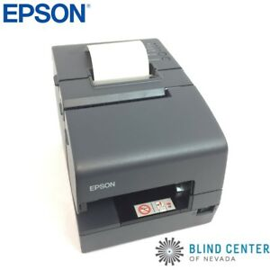 Epson Pos Cash Register Receipt Printer M253a Tm h6000iv No Power Supply