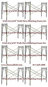 8 Set Of 3 X 6 8 X 10 Plastering Masonry Scaffold Frame Set Cbm Scaffold