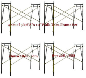4 Set Of 3 X 6 8 X 10 Plastering Masonry Scaffold Frame Set Cbmscaffoldcom