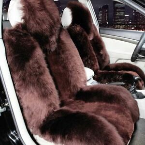 1 Set Fur Winter Plush Car Seat Covers Warm Auto Seat Cases Interior Accessories