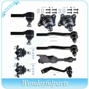 For Toyota 4runner Truck 4wd 1986 1989 10pc Kit Ball Joint Idler Arm Tie Rod End