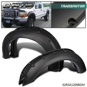 Textured Fender Flares Super Duty Bolt on Rivet Pocket For Ford F250 F350 99 07