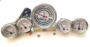 Oil Pressure Fuel Temp Amp Tach Gauge Set For Allis Chalmers Diesels D15 D17 D19