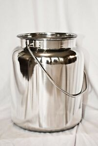 10 Qt Stainless Steel Milk Can Tote 2 1 2 Gal New