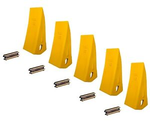 5 Backhoe Skid Bucket Tooth With Pins 230hx 230hxl 23 230 230s