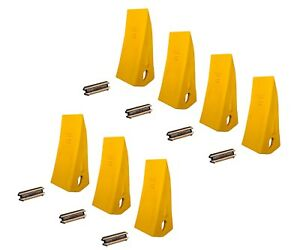 7 Backhoe Skid Bucket Tooth With Pins 230hx 230hxl 23 230 230s