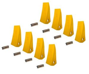 8 Backhoe Skid Bucket Tooth With Pins 230hx 230hxl 23 230 230s