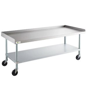 30 X 60 Heavy Equipment Stand W Casters Stainless Steel Work Commercial