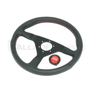 Momo Steering Wheel Monte Carlo 350mm Black Red