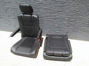 Black Leather 2 Bucket Seats Jeep Hotrod Bus Van Boat Truck Chrysler Town