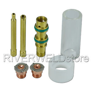 1 16 3 32 Gas Saver Pyrex Cup Kit For Wp Sr 17 18 26 Tig Welding Torch 7pcs