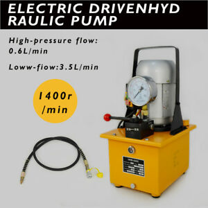 New 110v 63 Mpa Electric Driven Hydraulic Pump With Single Acting Manual Valve