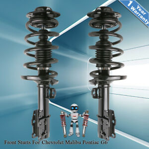 Set 2 Shock Absorbers Front Struts With Springs Mounts For Malibu G6 Aura Pair