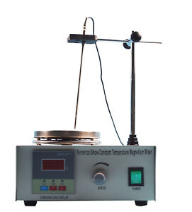 New Magnetic Stirrer With Hot Plate Control Lab Supply Digital Heating Mixer110v