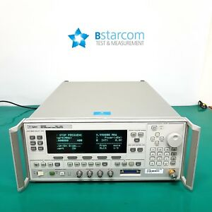 Hp 83640b 40ghz Synthesized Swept signal Generator Opt 001 008 Good Display