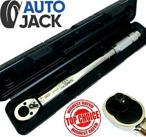 3 8 Square Drive Ratchet Torque Wrench Calibrated Tool 19 110 Nm With Case