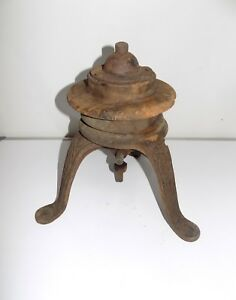D l Bates Wood Cast Iron Tire Wheel Balancer Rat Rod Hot Rod Ford Model T