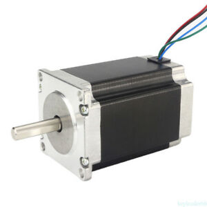 Nema 23 Stepper Motor 1 26nm 2a 4 wires 8mm Shaft Diy Cnc Router Mill Bg6