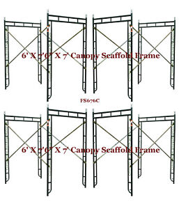 Cbm Scaffold 4 Set Of 5 X 7 6 X 7 Canopy Scaffold Frame For Entry Side walk