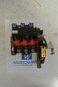 Square D Hu 30 sv Series D2 Disconnect Switch 3 Pole