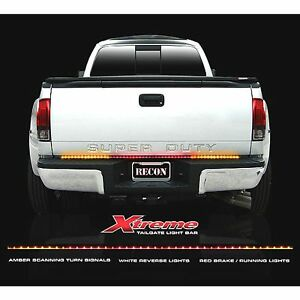 Recon 26416x 60 Xtreme Red white amber Tailgate Light Bar Led
