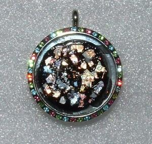 Ancient Roman Glass Set In Amazing Stainless Steel Pendant One Of A Kind