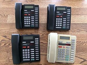 Lot 4 Used Aastra Analog Business Phones W Handsets 3 X A0659641 1 X A0674967