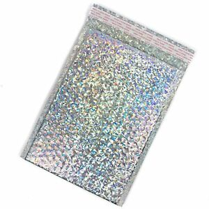 Bubble Mailers 9x12 8 2x12 Inside Holographic Silver Metallic Padded By Of