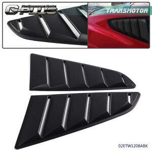 For 15 18 Ford Mustang Gt V6 Black Quarter 1 4 Window Louver Scoop Cover