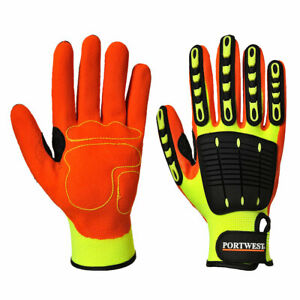 Portwest A721 Anti Impact Safety Glove With Nitrile Sandy Coating Palm Grip Ansi