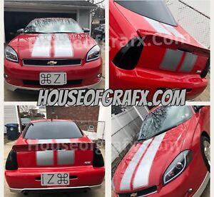 11 Chevrolet Monte Carlo Racing Rally Stripe Graphics Stripes Decals Ss