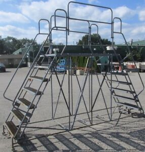 Double Sided 7 Step Rolling Ladder 2679el
