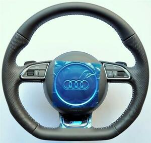 New Audi S Line A4 A5 Q5 Q7 A3 A6 A8 Tt R8 Flat Bottom Steering Wheel Paddles