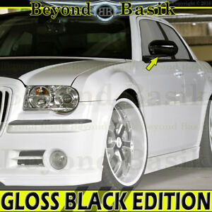 05 10 Chrysler 300 06 10 Charger 05 08 Magnum Gloss Black Mirror Covers Overlays