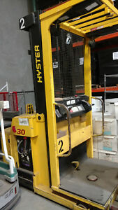 Hyster Stand On Electric Pallet Picker Order Picker Forklift F l Lift