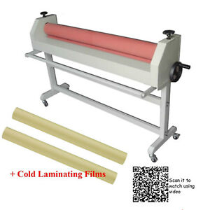 51 1300mm Cold Laminator Pro Laminating Kit 2 Rolls 1 4x54 6yd Satin Film