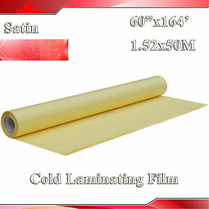 1 6x54 6yard 1 52x50m 2mil Satin Matt Vinyl Cold Laminating Film Laminato