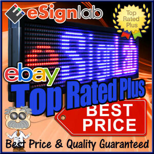 Red blue purple 19 X 85 Outdoor Programmable Led Sign