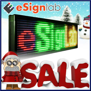 Red green yellow 19 X 69 Outdoor Programmable Led Sign