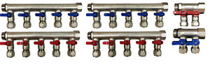 3 4 12 Ports Ball Valve Brass Manifold For 1 2 Pex