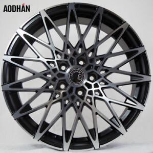 18x9 Aodhan Ls001 Rims 5x112 30 Black Wheels Aggressive Fits Audi A4