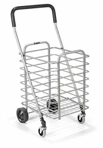 Shopping Cart Heavy duty Trolley Aluminum Folding Wheel Storage Utility Grocery