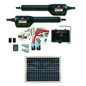 Mighty Mule Mm262 20 Watt Solar Package Light Duty Dual Gate Opener